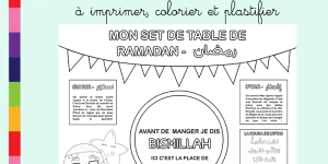 Mon set de table du Ramadan