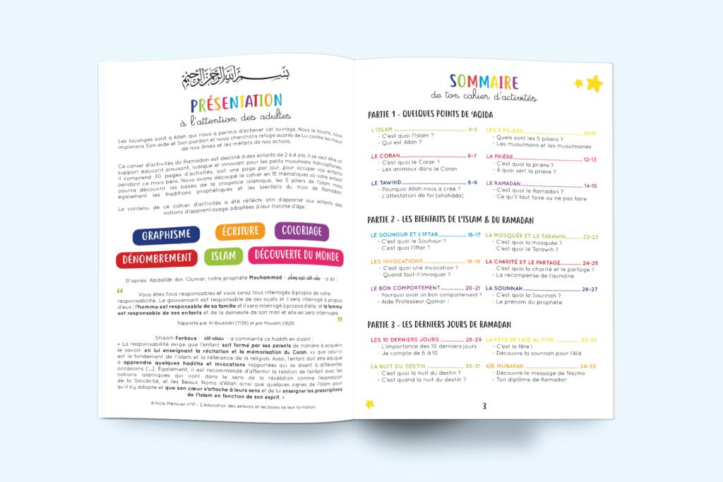 Cahier d'activités de Ramadan 2-4 ans
