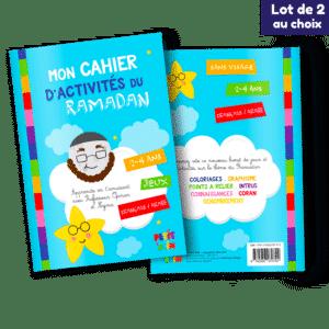 Lot de 2 cahiers d'activités du Ramadan (Au choix)