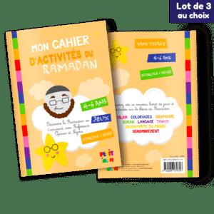 Lot de 3 cahiers d'activités du Ramadan (Au choix)